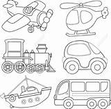 Coloring Transportation Preschool sketch template