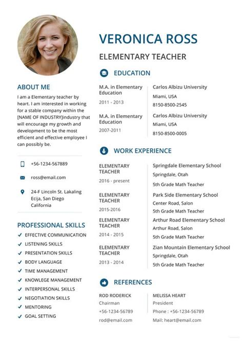 teacher resumes   word  documents