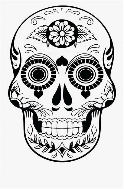 Skull Sugar Outline Clipart Blank Candy Template