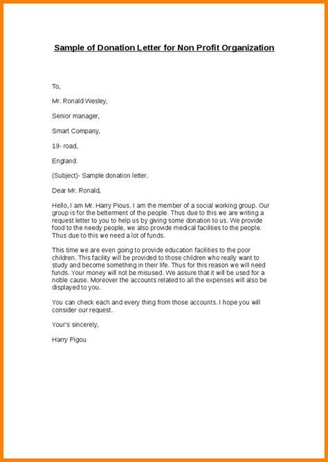 Donation Letter Template 7 Donation Letter For Non Profit Sales Slip Template