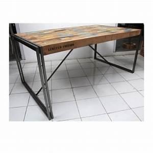 Table à Manger Industrielle Acier Et Bois : table a manger industrielle acier et bois madison ~ Teatrodelosmanantiales.com Idées de Décoration