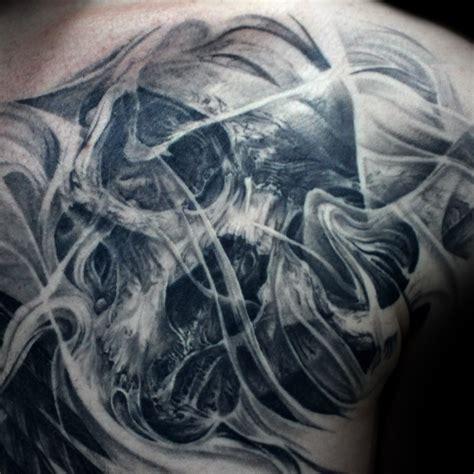 skull smoke tattoo mancia stygian gallery
