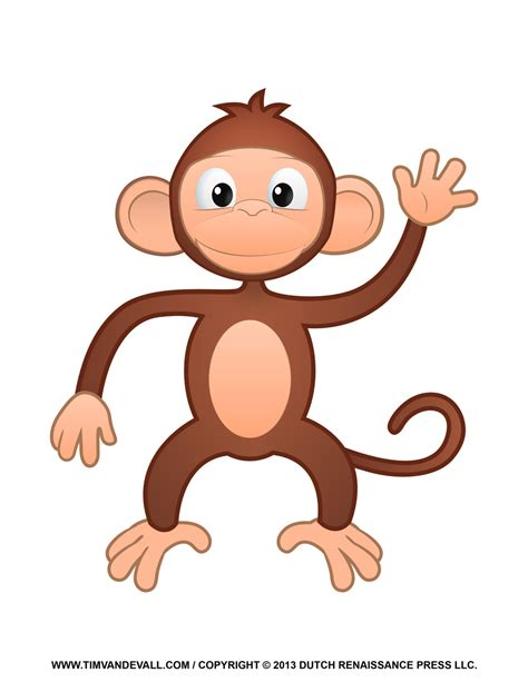 clipart of monkeys printable monkey clipart coloring pages crafts
