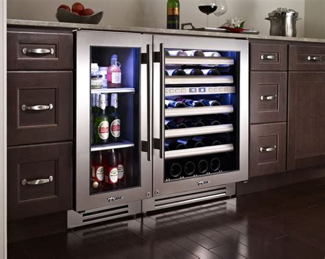 wine cooler in kitchen cabinet kitchen with true residential 15 quot undercounter 1907