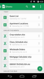 Google sheets android apps on google play for Google docs android excel