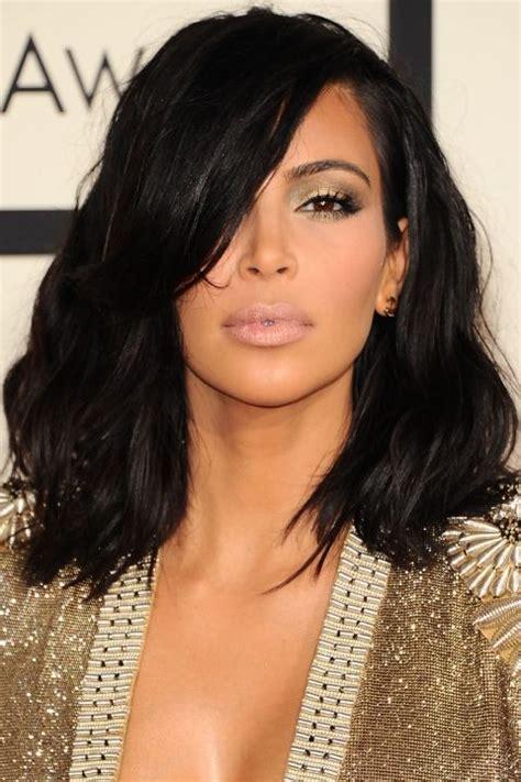 kim kardashian colors and lob haircut on pinterest