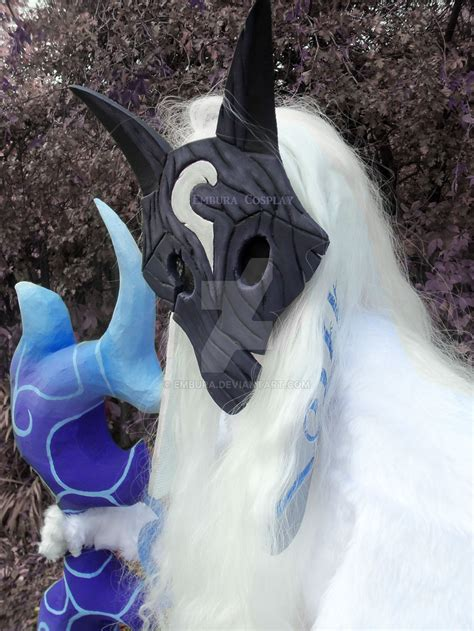 kindred cosplay  league  legends lamb face