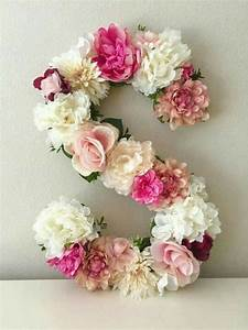 ideas de letras decoradas diy With flower covered letters