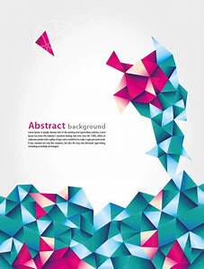 Abstract Geometric Vector Background With Blue And Pink ...