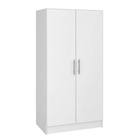 home depot white storage cabinets hton bay 65 in h wardrobe cabinet in white thd90069 1a