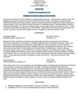 Resume Meaning Merriam Webster by Carpenter Resume Sle Resumes Design