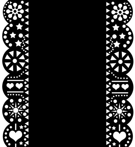Papel Picado Template Diy Mexican Papel Picado Inspired Save The Dates Die Cut