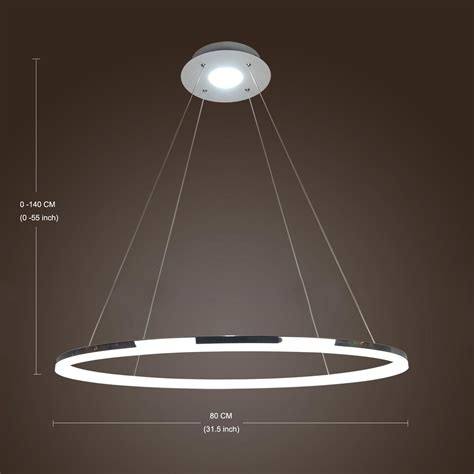 modern simple design mini pendant light living led ring