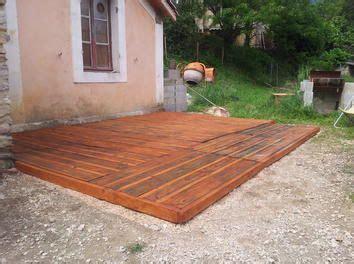 cr 233 ation d une terrasse en palettes palettes terrasse en