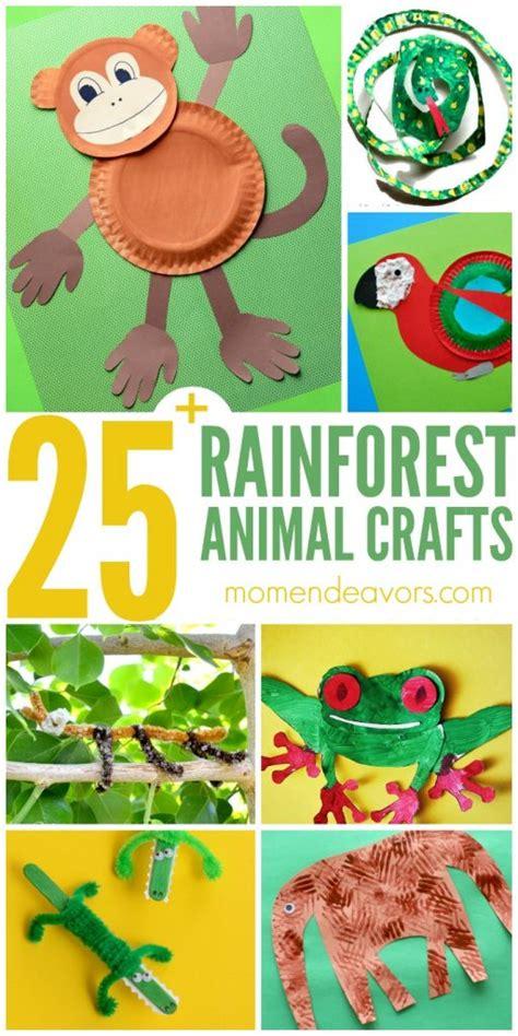 rainforest animal crafts  kids