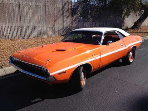 seller  classic cars  dodge challenger  mango orangeburnt orange