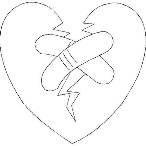 Kleurplaat Gebroken Hart gebroken hart kleurplaten