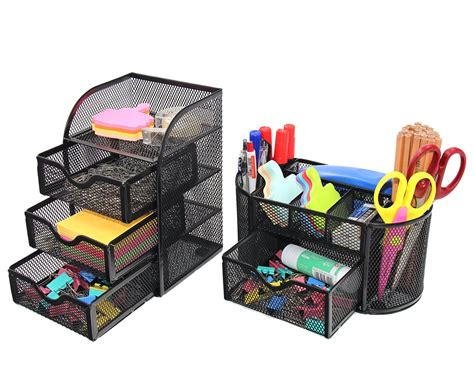 Office Desk Tools by Pag Office Supplies Mesh Desk Organizer Set Pen Holder
