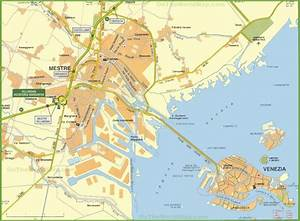 Map of Venice and Mestre