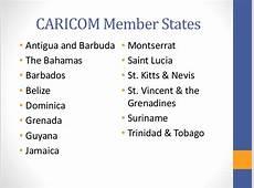 Caricom and employment