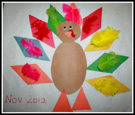 thanksgiving preschool crafts being able to recognize shapes is the step in 3075