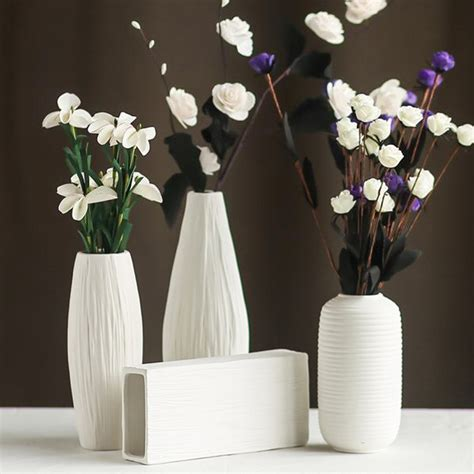 home decor ceramics stylish modern minimalist style desktop ceramic flower vase