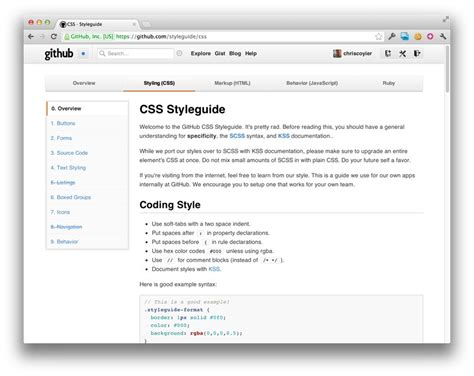 Css Style Guides Csstricks