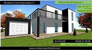 plan et photo de maison avec etage ossature bois par With logiciel plan 3d maison 11 maison d architecte contemporaine maison moderne
