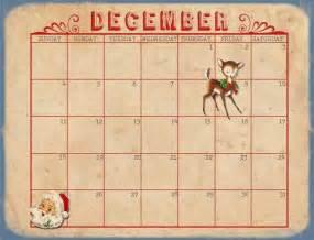2017 Calendar Printable December Christmas