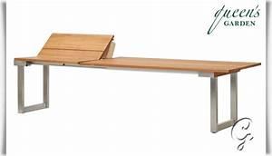 Gartentisch Edelstahl Holz : gartentisch lorentz ausziehbar aus holz ~ Frokenaadalensverden.com Haus und Dekorationen