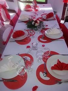 Décoration Mariage Rouge Et Blanc : decoration table mariage blanc et rouge ~ Melissatoandfro.com Idées de Décoration
