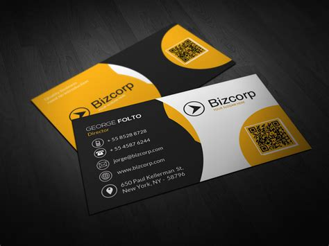 double sided professional business card design double