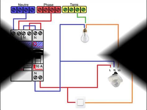 sch 233 ma electrique d 233 tecteur de pr 233 sence avec interrupteur