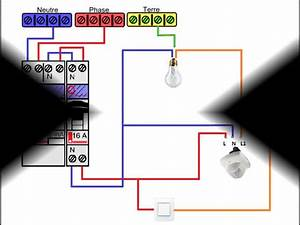 Branchement Detecteur De Mouvement : sch ma electrique d tecteur de pr sence avec interrupteur ~ Dailycaller-alerts.com Idées de Décoration