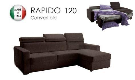 canapé lit convertible couchage quotidien canape d 39 angle reversible rapido sidney 120 cm coffre