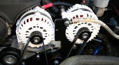 gm chevy hummer truck suv dual alternator kit