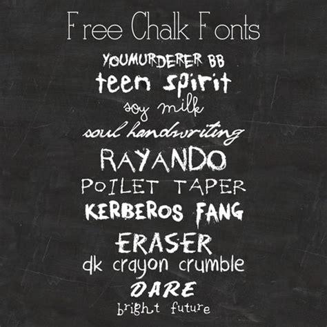 chalk handwritten cursive fonts images