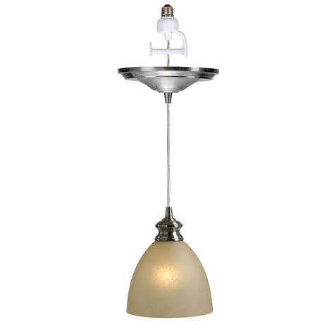 recessed light pendant worth home products instant pendant series 1 light brushed