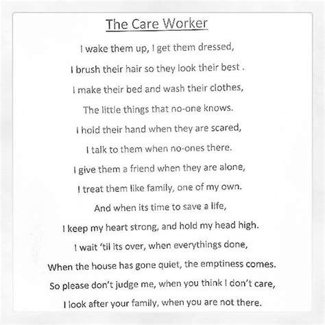 careworker poems  inspiration pinterest poem