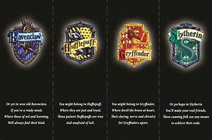 Harry Potter Bookmarks U2019 The Four Houses Of Hogwarts From