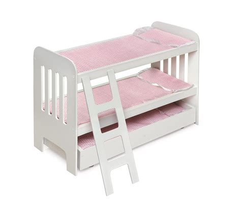 Badger Basket Doll Bed badger basket trundle doll bunk beds with ladder by oj