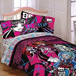 amazon com monster high ghoulie gang bedding bed in a