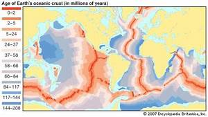 age of earths oceanic crust credit encyclopaedia With how old are the oldest rocks of the ocean floor