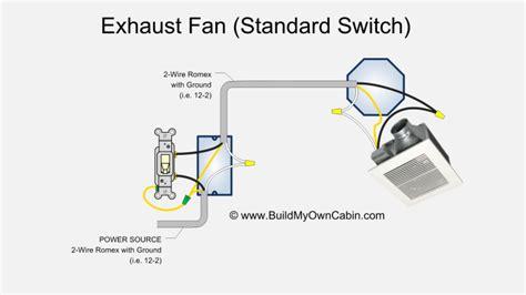 bathroom exhaust fan control switch exhaust fan wiring single switch bathroom remodeling