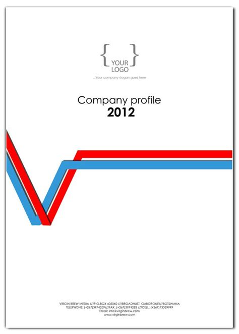 company profile cover page design template company profile cover design templates on behance sapics