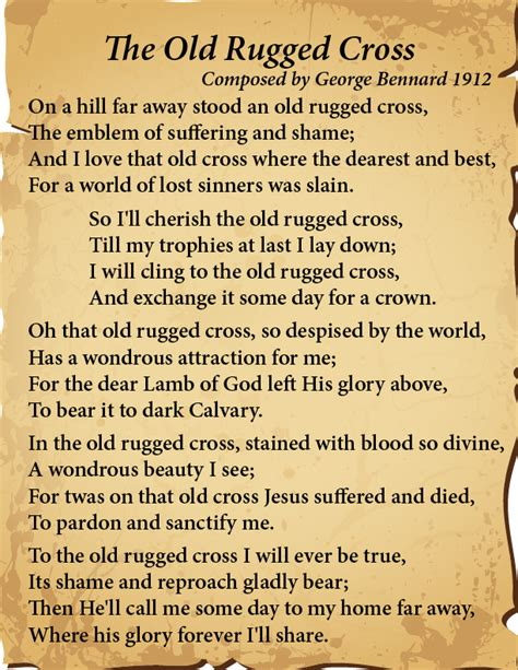To The Rugged Cross Lyrics by A Hill Far Away