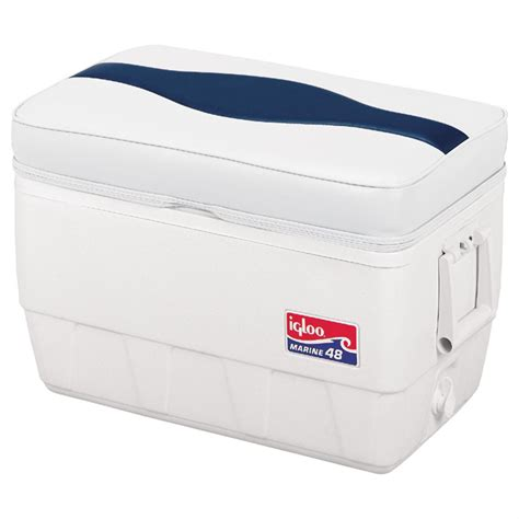 Boat Cooler With Seat by Wise 174 Premium Pontoon 48 Quart Cooler Seat 140878