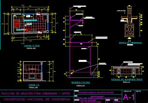 details kitchen  autocad cad   kb