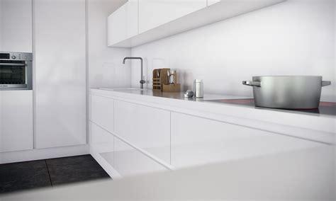cocina monocromatica  electrodomesticos integrados