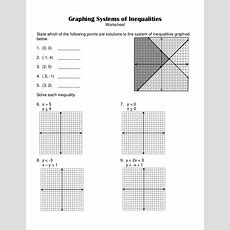 76 Systems Of Inequalities Worksheet